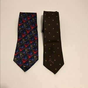LOT OF TWO DESIGNER MEN'S TIES